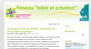 2016 Bible et Création