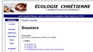 2016 Ecologie chrétienne