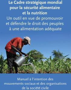 Cadre stratégique sécurité alimentaire 2013