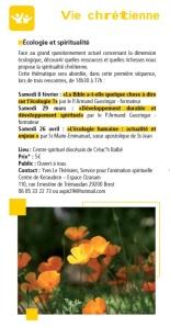 Ecologie Bretagne 2014