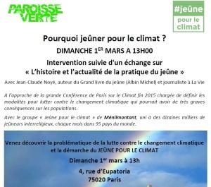 2015 Jeuner pour le climat
