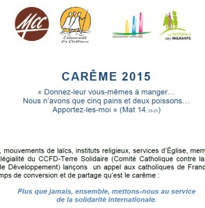2015 Message Campagne carême