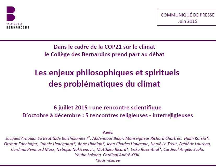 Rencontre climat paris