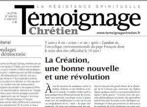 2015 Dom texte Témoignage chrétien