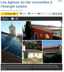 églises solaire dans le Var