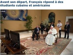 2015 Pape François étudiants