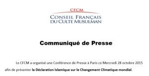 2015 CFCM Octobre 2015