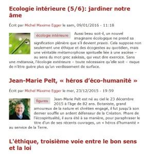 2016 Ecospiritualité Trilogie