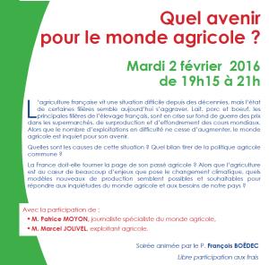 2016 Soirée Sèvres Agriculture