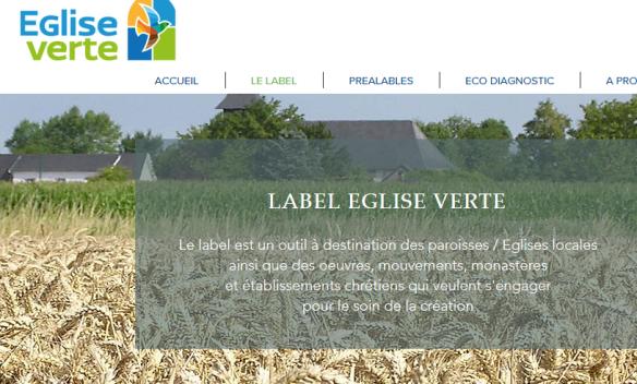 2017 ECOLOGIE Lancemnet label Eglise verte