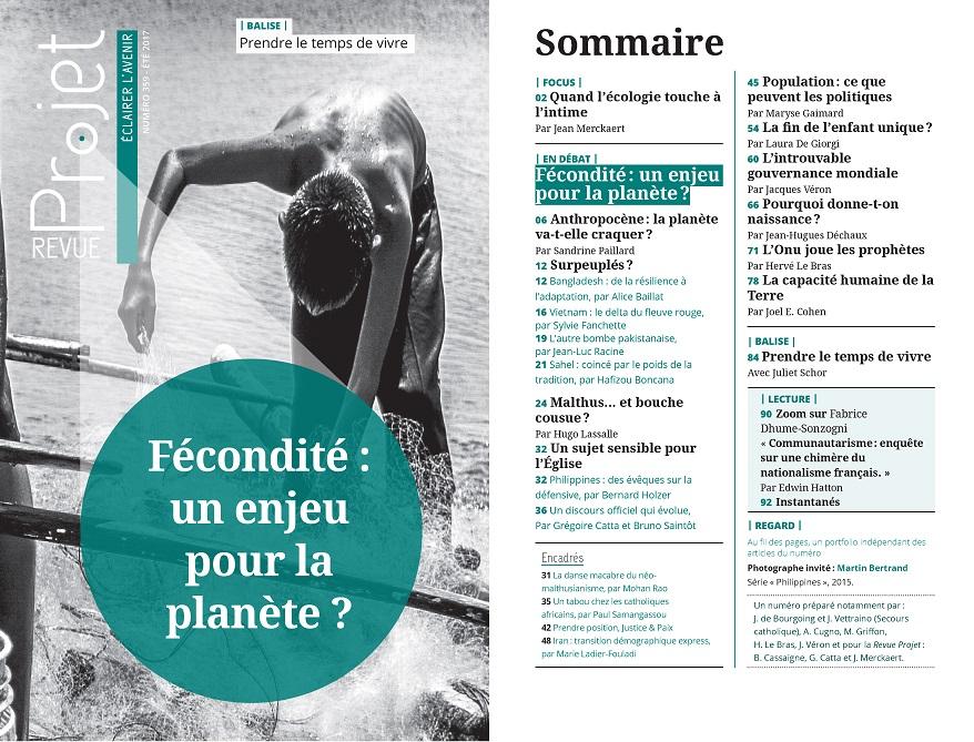 2017 ECOLOGIE Projets Démographie