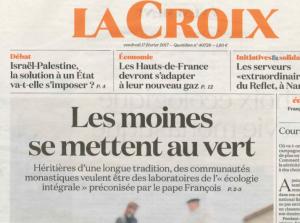 ECOLOGIE 2017 La Croix MOines de Maylis