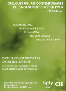 2017 ECOLOGIE Conf UCLY Dom Octobre