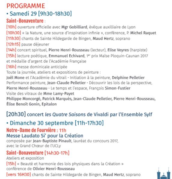 2018 ECOLOGIE Eglises Festival de Lyon 2
