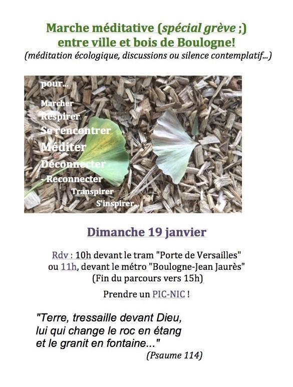 2020 ECOLOGIE et EGLISES Janvier Marche