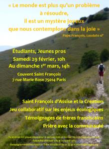 2020 ECOLOGIES et EGLISES Janvier Franciscains